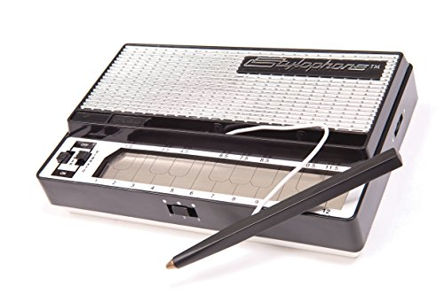 The Stylophone is a miniature stylus operated synthesizer invented in 1968 and used by such iconic musicians as David Bowie, Kraftwerk and Erasure. It features a metal keyboard played by touching it with a stylus. That's right, over four decades ago ...