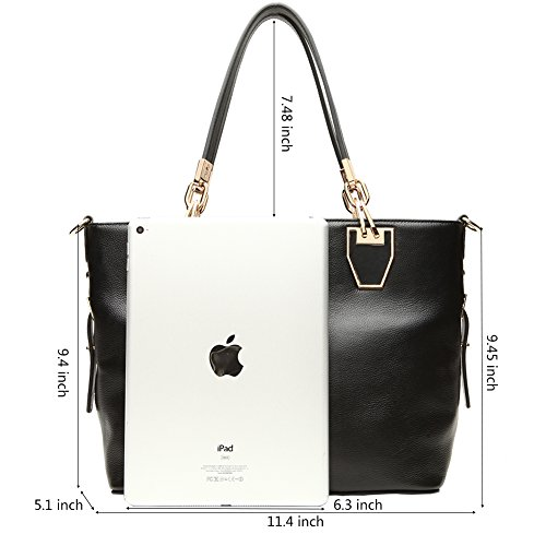 BOSTANTEN Leather Women Genuine Handbag 11 Crossbody Bags Purses shoulder balck Tote for HpFHrwnx