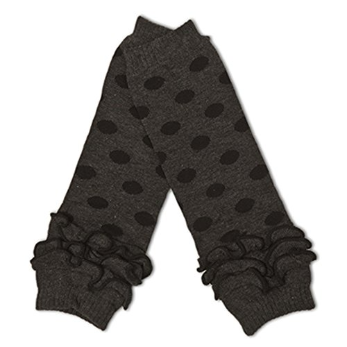[Polka Dot Leg Warmers (Grey with Black Polka Dots)] (Rouge Dance Costumes)