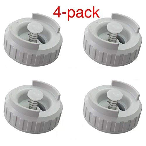 4-PK 509229-1 822419-2 HUMIDIFIER BOTTLE VALVE CAP FOR MOISTAIR EMERSON ESSICK KENMORE