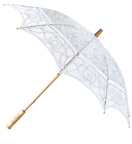The 1 for Vintage Batternburg Lace Parasol 8 Colors (White) by The 1 for U (Image #1)