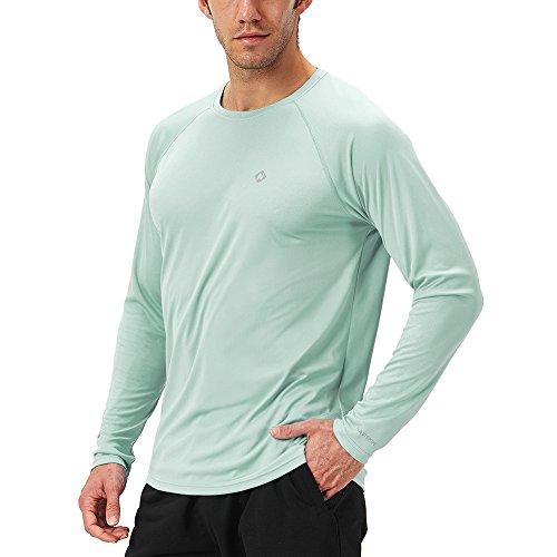 Naviskin Men's Sun Protection UPF 50+ UV Outdoor Long Sleeve T-Shirt Light Green Size S