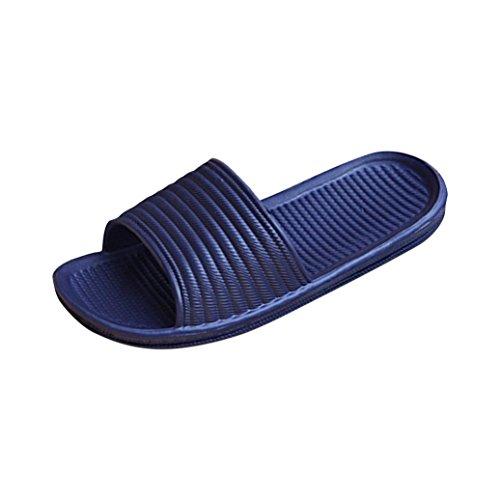 Sikye Male Sommer Flip Flops Mann Streifen Flat Bad Schuh Indoor & Outdoor Hausschuhe Marine