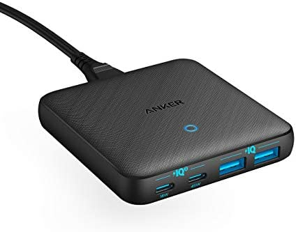 USB C Fast Charger, Anker 63W 4 Port PIQ 3.0 & GaN Fast Charger Adapter, PowerPort Atom III Slim Wall Charger with Dual USB C Ports (45W Max), for MacBook, USB C Laptops, iPad Pro, iPhone, and More