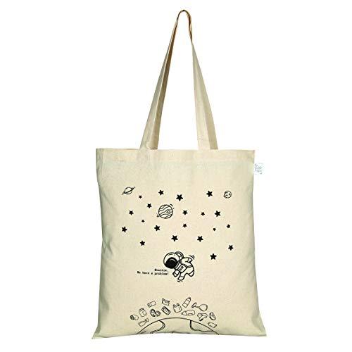 EcoRight Tote Bag 100% Cotton Canvas Reusable Ecofriendly Printed