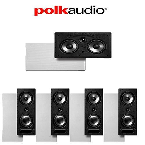 - Polk Audio 265-RT + Polk Audio 255C-RT 5.0 Vanishing Series In-Wall Home Theater Speaker Package