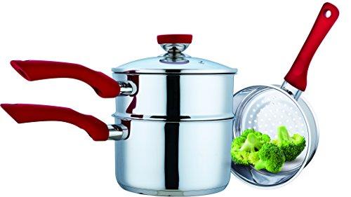Cheap Culinary Edge 08814N Steamer Boiler Set, Silver