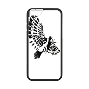 [Animal Tribal Aztec] Native Raven Shaman Case For iPhone 6, iPhone 6 Case Protection Cute For Girls {Black}