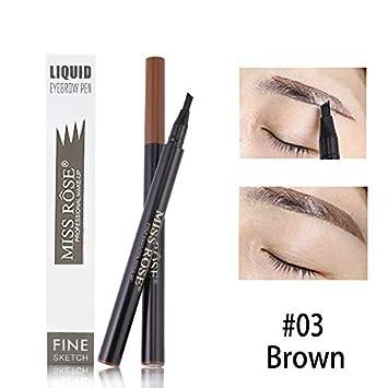 Amazon.com : Brown Black Fork Tip Henna Tattoo Eyebrow Pencil Easy ...
