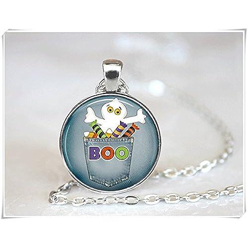 bc56f8261eb3 Barato Halloween fantasmas collar joyas para vacaciones de joyería ...