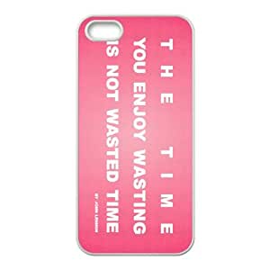 time you enjoy wasting is not wasted time quote retro pink iPhone 4 4s Cell Phone Case White 53Go-354703