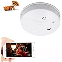 Zarsson WiFi Hidden Camera Smoke Detector Nanny Spy Cam With HD 1080P and Motion Detection for Home Security & Surveillance Free Apps for iOS Android, PC and Mac (a Free 8G Micro SD Card)