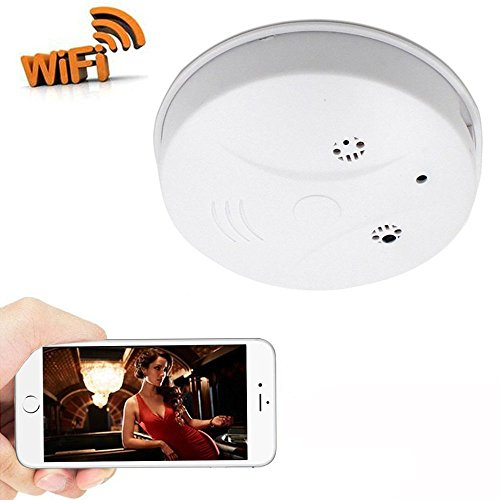 Zarsson WiFi Hidden Camera Smoke Detector Nanny Spy Cam With HD 1080P and Motion Detection for Home Security & Surveillance Free Apps for iOS Android, PC and Mac (a Free 8G Micro SD Card) by Zarsson