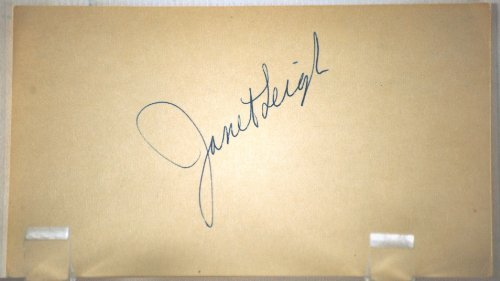 Janet Leigh Vintage Autograph - 3x5 Card - Dated: 04/15/1953 - Ballpoint Pen - Tv & Film Actress - Little Women / Angels in the Outfield / Naked Spur / Houdini / Touch of Evil / Psycho - Very Collectible
