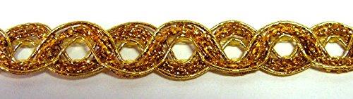 16,40m Gold-Borte 10mm breit Farbe: Lurex-Gold von 1A-Kurzwaren 2929-go