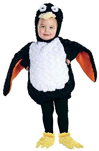 UHC Plush Penguin Madagascar Bird Outfit Toddler Halloween Costume, 18-24M