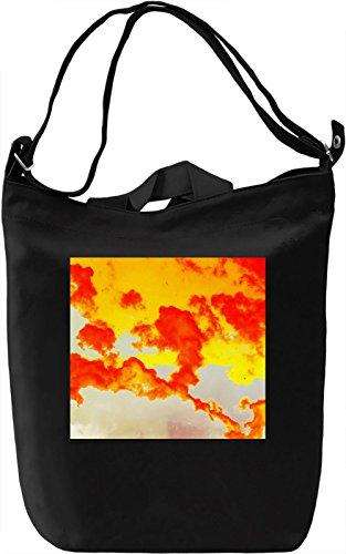 Abstract Clouds Print Borsa Giornaliera Canvas Canvas Day Bag| 100% Premium Cotton Canvas| DTG Printing|