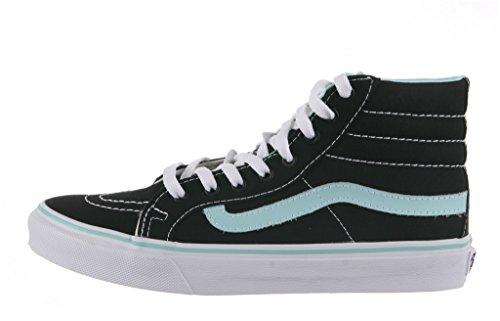 Vans Ski8 Hi Shoe, Pop Nero / Blu Tinta, 7.5 Mens