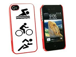 Graphics and More Triathlete Swim Bike Run - Triathlon - Snap On Hard Protective Case for Apple iPhone 6 plus 5.5 - Red - Carrying Case - Non-Retail Packaging - Red