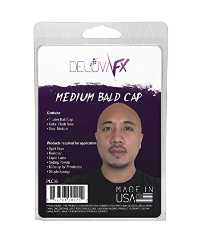 DELUVA FX Latex Bald Cap MEDIUM (Standard)