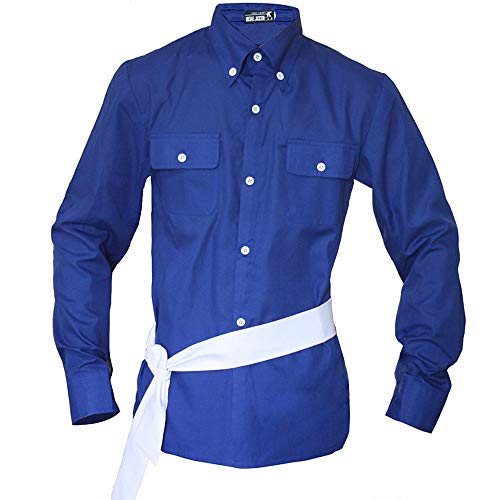 Michael Jackson Shirt Costume-The Way You Make Me Feel Blue Shirt with Belt (XXXL) -