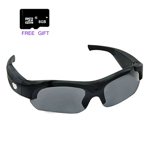 ZIMINGU 1080p Camera Glasses Video Recording 5MP Hidden Came