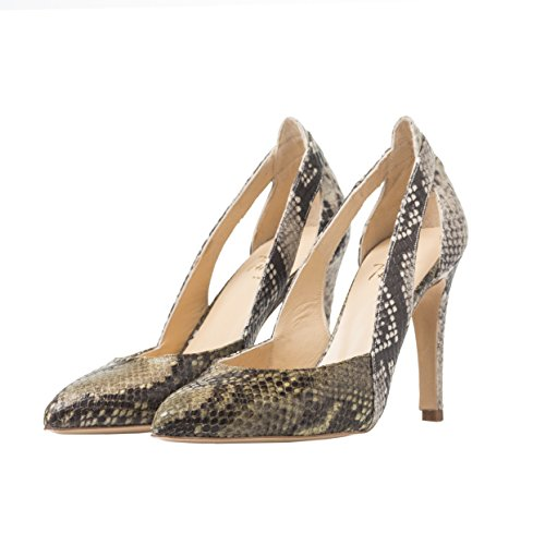 40 Stiletto HEEL Natural Combinado THE Pyton PINK 5gYEwEqz