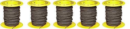 Mitchell Abrasives 52 Round Abrasive Cord, Aluminum Oxide 150 Grit .055'' Diameter x 50 Feet (5-(Pack))