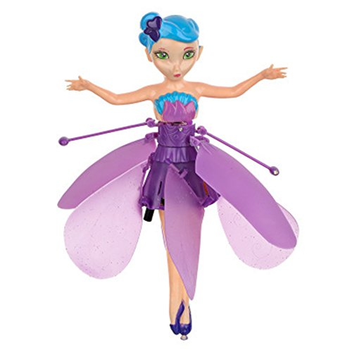 Flying Fairy Doll Infrared Induction Control RC Helicopter Dolls Kids Fly Toy Gifts with USB Charging