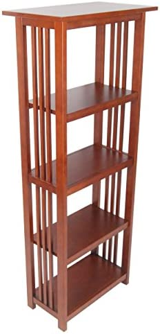 Mission 60 H Bookcase with 4 Shelves, Cherry