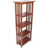 Alaterre Artisan Bookcase, 60-Inch, Cherry
