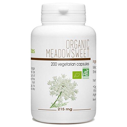 Meadowsweet 200 Organic Vegetarian Capsules 215 mg