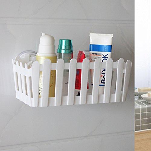 Suction-cup bathroom shelf/Storage toilet toilet toilet wall-white