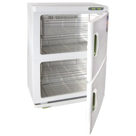 KOVAL Electric Double Compartment Towel Warmer Heated Sterilizer, 46 L