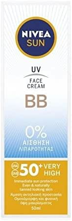 Nivea Sun UV Face BB Cream UVA/UVB sunscreen protection SPF50+, 50ml …