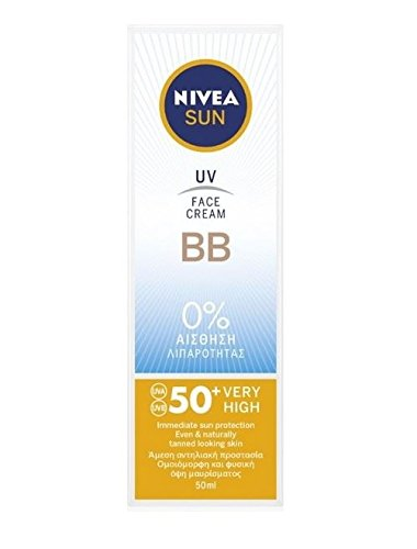 (Nivea Sun UV Face BB Cream UVA/UVB sunscreen protection SPF50+, 50ml ...)