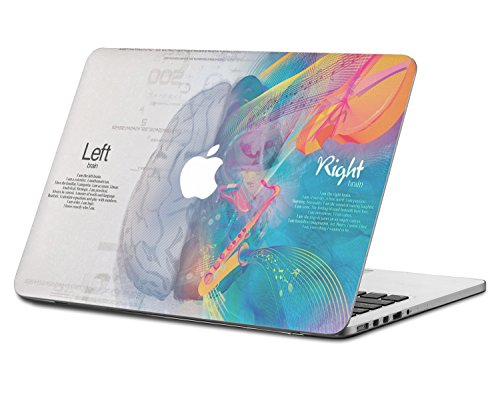 HERNGEE Mathematical Brain and Musical Brain, Left Right Brains Decal Vinyl Skin Sticker Compatible with MacBook Pro with Retina Display 15.4 Inch ()