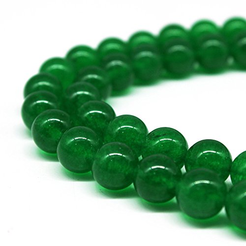 Natural Pink Green (JARTC Natural Green Jade Round Loose Beads For Jewelry Making Diy Bracelet Necklace (4mm))