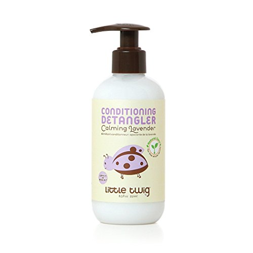 Little Twig All Natural, Hypoallergenic Conditioning Detangler with an Organic Blend of Lavender, Lemon, and Tea Tree Oils, Calming Lavender Scent, 8.5 Fluid - Detangling Conditioner