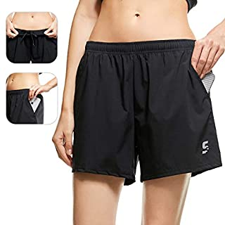SS COLOR FISH Sport Shorts for Women Sport Shorts with Pockets,Women Running Shorts Small