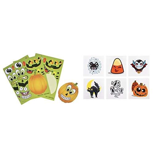 Two Dozen (24) Make a Pumpkin Sticker Scenes