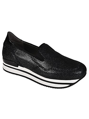 Hogan Women's HXW2220T671I8CB999 Black Leather Slip On Sneakers really sale online cheap sale excellent cheap sale supply 8Cw0AN6I