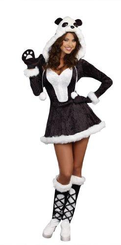 Dreamgirl Women's Panda Bear Baby Costume, Black, (Panda Girl Costume)