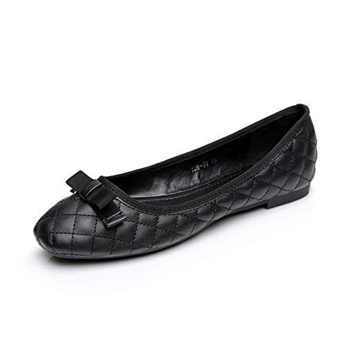 Trabajo UE de Mujer Zapatos de Negros Zapatos Zapatos Arco Antideslizantes Fondo Damas de Ballet Zapatos cómodos EU de de Suave Zapatos del FLYRCX Planos 37 41 Embarazada qfCOSwC