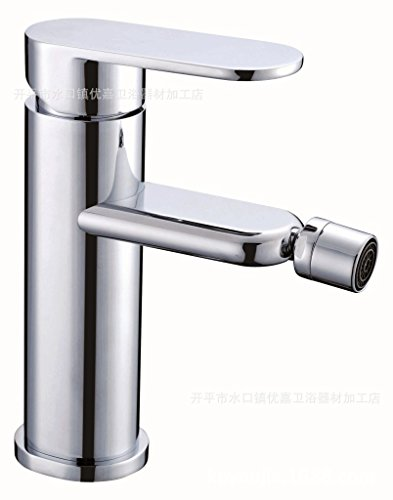 Furesnts Modern home kitchen and bathroom faucet Single hole basin faucet tap fashion women wash basin faucet copper chrome silver basin faucet ,(Standard G 1/2 universal hose ports) by Dahuuyus
