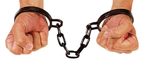 Plastic Wrist Shackles w/ Chain Costume Accessory ()