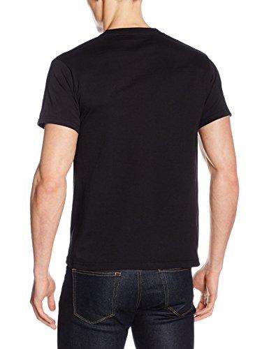 T Heavy Of Shirt Fruit Loom Uomo Cotton Nero The Tee C10n1qxPw