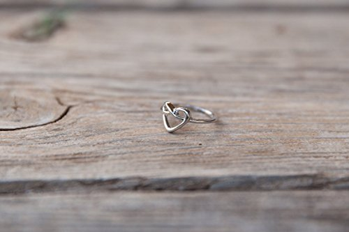 Heart ring, Gold ring, Simple ring, Minimal ring, Delicate ring, Basic Ring, Gold heart ring, Simple ring, Daily ring, Daily silver - Store Me Brighton Near