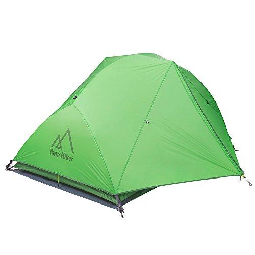 本土袋ステレオTerra Hiker キャンプ テント 2人用 PU4000 4シーズン用 簡易 軽量 サンシェードテント uvカット 二重層 アウトドア 日本語説明書付き 一年間保証