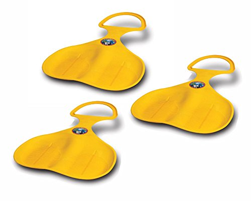 AIRHEAD Plastic Spoon Snow Sled - Winter Sledding Fun for All - 3 Pack